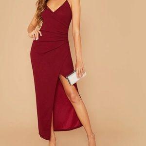 Red Split Dress